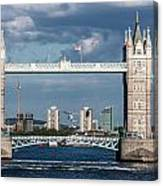 Helicopters And Tower Bridge Canvas Print
