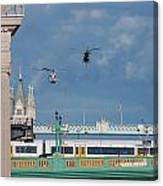 Helicopters Tower Bridge Canvas Print