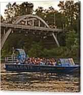 Hellgate Jet Boat And Caveman Bridge Canvas Print