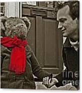 Hello Mr Bear Canvas Print