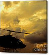 Helocopter In Clouds Canvas Print
