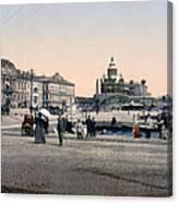 Helsinki Finland - Senate Square Canvas Print
