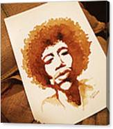 Hendrix Coffee Art Portrait Canvas Print
