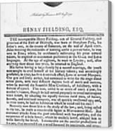 Henry Fielding (1707-1754) Canvas Print