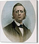 Henry Ward Beecher (1813-1887). American Clergyman. At Age 50: Steel Engraving, 19th Century Canvas Print