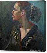 Her Kimono Canvas Print