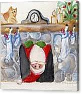 Here Comes Santa Claus Canvas Print
