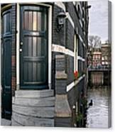 Herengracht 395 Bis. Amsterdam Canvas Print