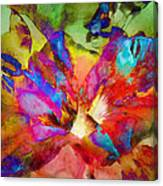 Hibiscus Abstract Canvas Print