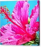 Hibiscus Crystal Luster Canvas Print