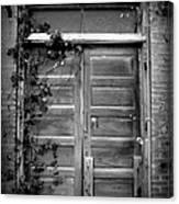 Hidden Door B And W Canvas Print