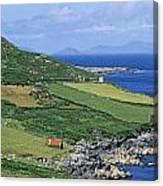High Angle View Of A Coastline, Beara Canvas Print