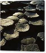 High Angle View Of Basalt Rocks, Giants Canvas Print