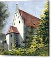 High Castle Courtyard Canvas Print