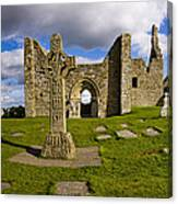 High Cross At Clonmacnoise, County Canvas Print
