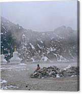 High In The Himalayas Canvas Print