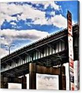 High In The Skyway Canvas Print
