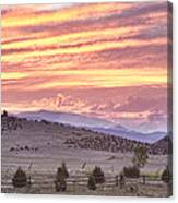 High Park Fire Larimer County Colorado At Sunset Canvas Print