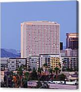 High Rise Buildings Of Downtown Phoenix At Sunrise Canvas Print