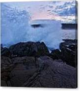 High Tide At Dusk Canvas Print