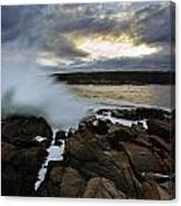 High Tide At Otter Point Canvas Print