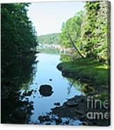 High Tide In Maine Part Of A Series Canvas Print