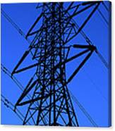 High Voltage Power Line Silhouette Canvas Print