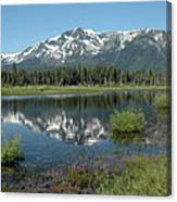 High Water Mt Tallac Reflections Canvas Print