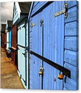 Highcliffe Beach Huts Canvas Print