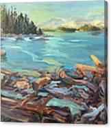 Highest Tide Rebecca Spit Canvas Print