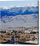 Highway 52 End Of The Line Canvas Print