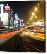 Highway And Hotels Canvas Print