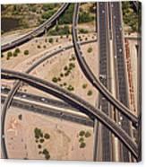 Highway Planet Art Canvas Print