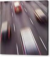 Highway Traffic In Motion Canvas Print