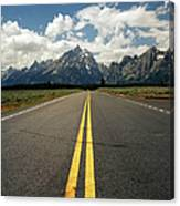 Highways To Tops Of World Canvas Print