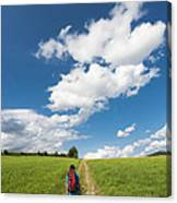Hiking In The Summer Canvas Print