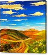 Hill View Valley Canvas Print