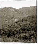Hills In Black And White Canvas Print