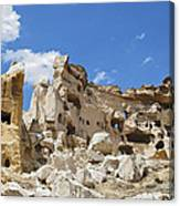 Hillside Cave Village And Ancient Township Canvas Print