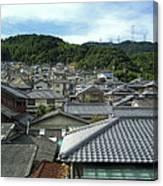 Hillside Village In Japan Canvas Print