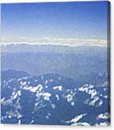Himalayas Blue Canvas Print