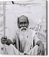 Hindu Holyman In Benares Canvas Print
