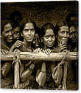 Hindu Pilgrims On New Year's Day Canvas Print