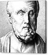 Hippocrates, Greek Physician, Father Canvas Print