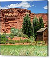 Historic Bicknell Grist Mill - Utah Canvas Print
