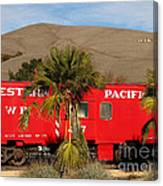 Historic Niles District In California Near Fremont . Western Pacific Caboose Train . 7d10718 Canvas Print