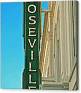Historic Roseville California Canvas Print