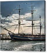 Hms Bounty Newport Canvas Print