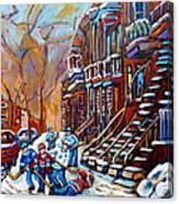 Hockey Art Montreal Streets Canvas Print