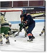 Hockey One On Four Canvas Print